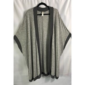3X Cacique Gray Oversized Cocoon Sleeve Cardigan